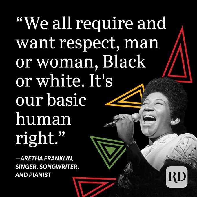 Aretha Franklin Black History Month Quote