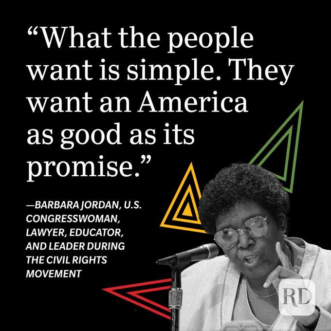 Barbara Jordan Black History Month Quote