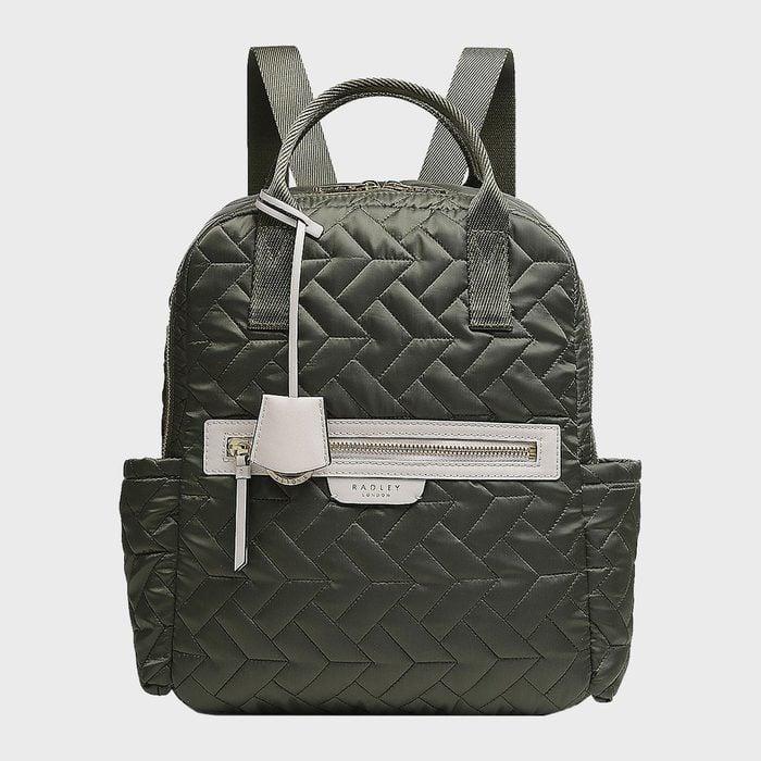 Finsbury Park Quilt Khaki Medium Backpack From Radley London