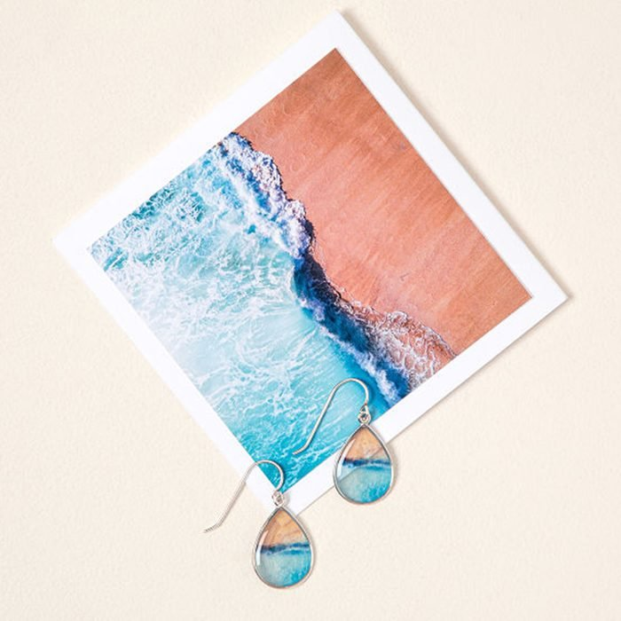 Go To Your Happy Place Ocean Earrings