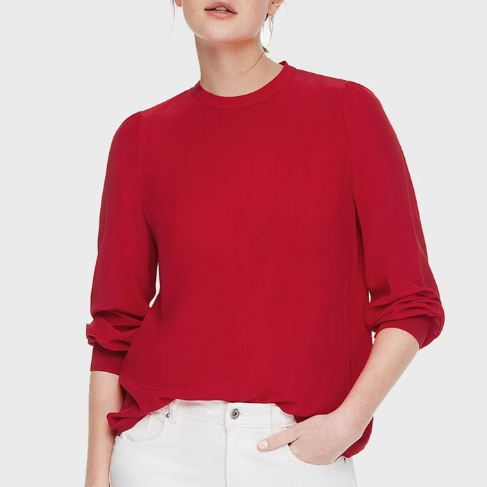 Lilysilk Basic Silk Blouse With Ribbed Cuffs