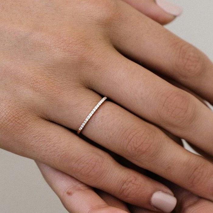 Noemie The Petite Diamond Band Ring