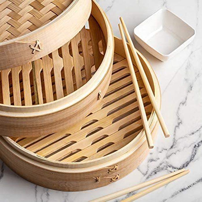 Prime Home Bamboo Steamer Basket
