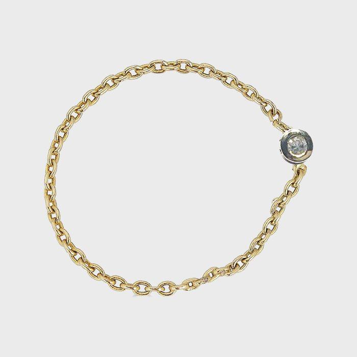 R. Chiara Diamond Bezel Chain Ring