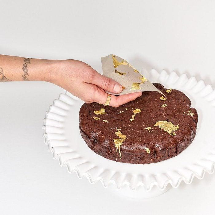 The Cakers Flourless Dark Chocolate Gold Leaf Cake Kit