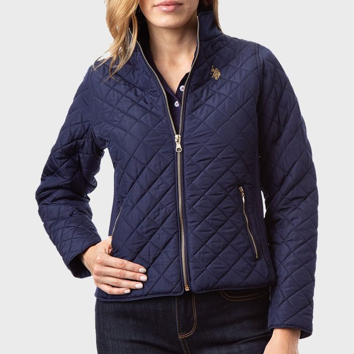 U.s. Polo Assn. Side Knit Quilted Jacket