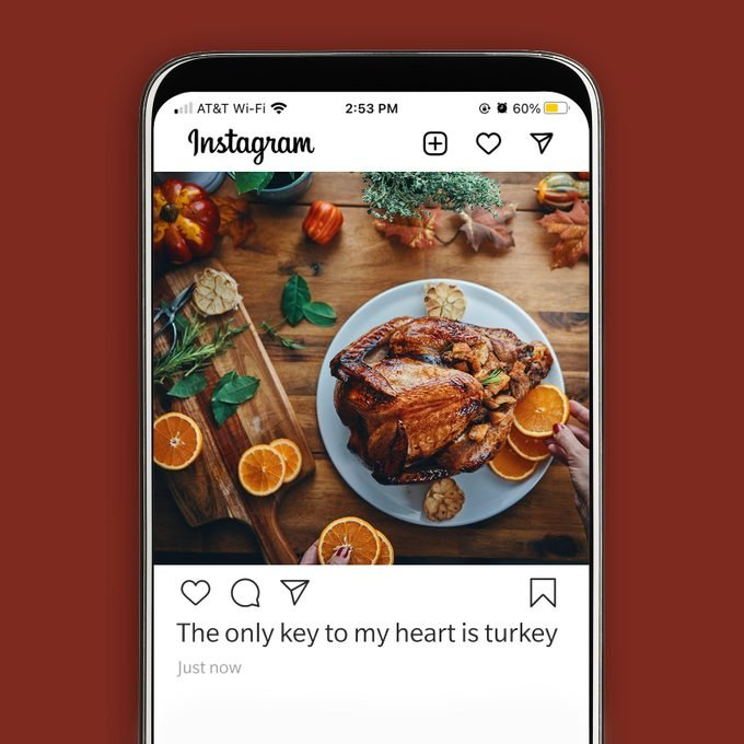 Thanksgiving Instagram Caption Only Key To My Heart Is Turkey