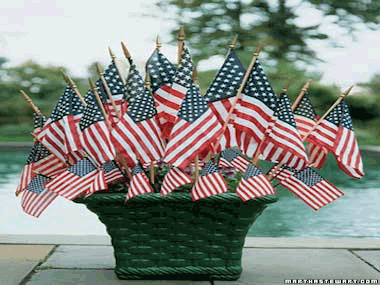 """Homegrown"" American flags"