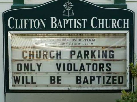 15 Funny Church Signs That Are Going To Hell Reader S Digest