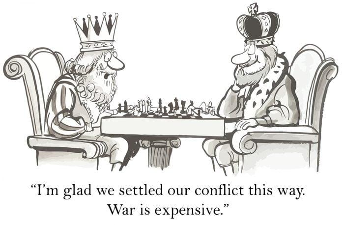 kings playing chess