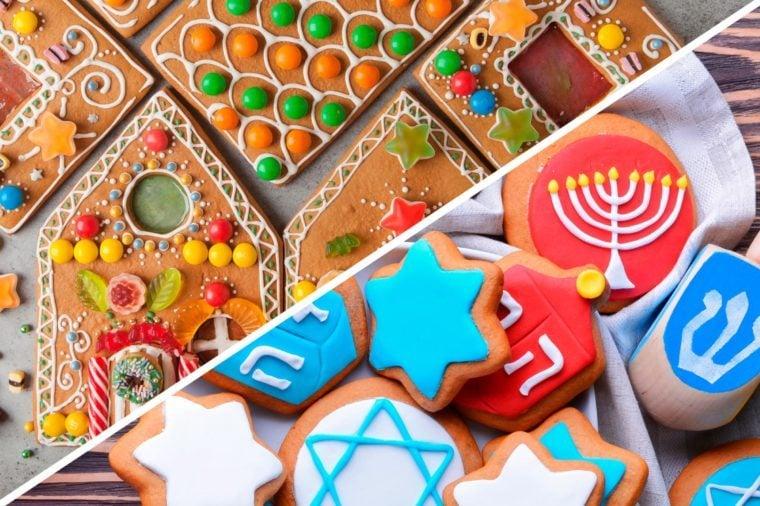 christmas hanukkah double holidays cookies