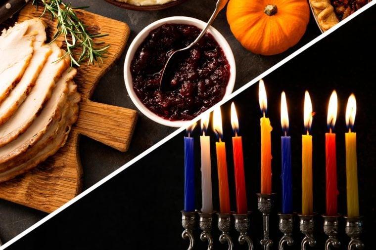 thanksgiving hanukkah double holidays turkey menorah