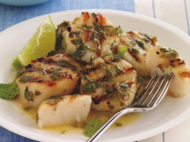 <b>Appetizer: </b> Mojito Grilled Scallops