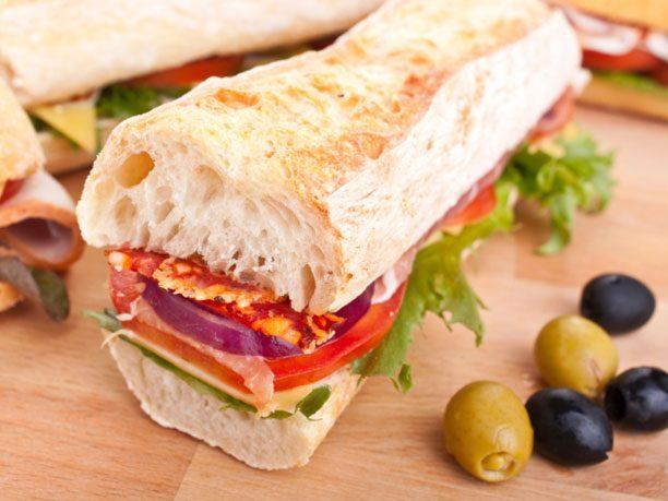 "6. <a href=""http://www.foodnetwork.com/recipes/emeril-lagasse/muffuletta-sandwich-on-sourdough-bread-recipe/index.html"" target=""_blank"">Muffuleta</a>"