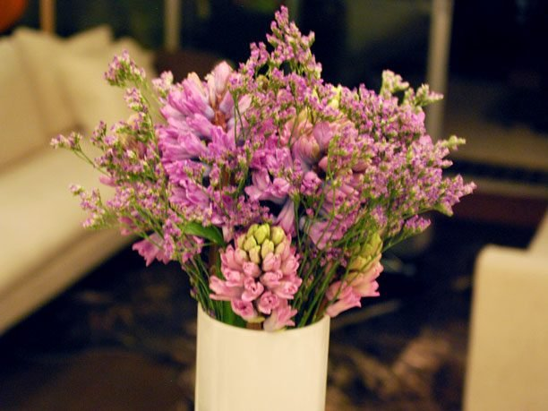 Lavender and Hyacinth Arrangement