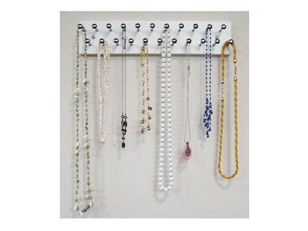 A Coat Rack Provides a Decorative Jewelry Display