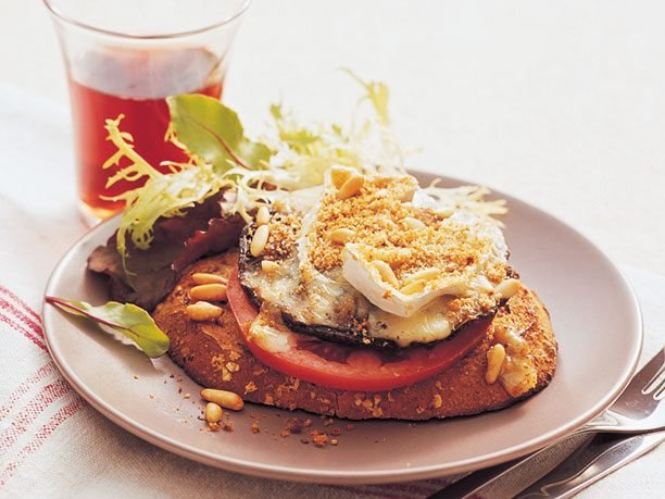 Jumbo Stuffed Mushroom With Camembert and Pine Nuts