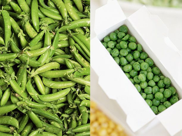 Green Giant Frozen Sweet Peas vs. Fresh-Picked Peas