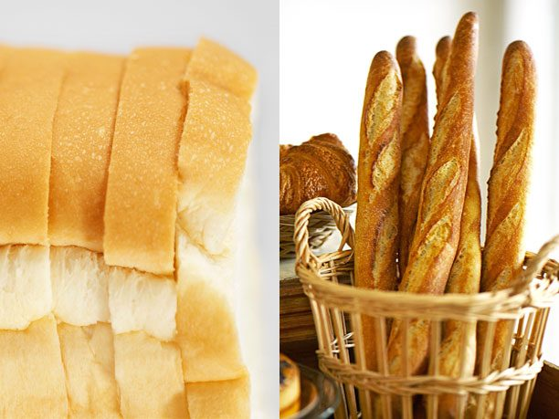 Wonder Classic White Bread vs. Just-Baked Baguette