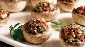 Vegetable-Stuffed Mushrooms