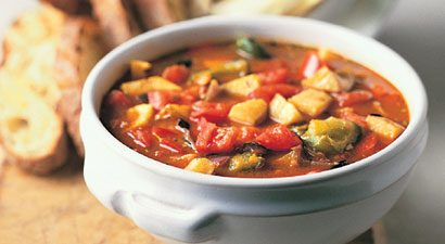 Mediterranean Roasted Vegetable Soup