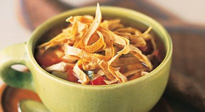 Mexican Chicken Soup with Cheese