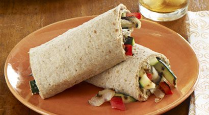 Try this delicious sandwich packed with healthy grilled vegetables and ...