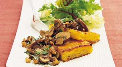Grilled Polenta and Mushroom