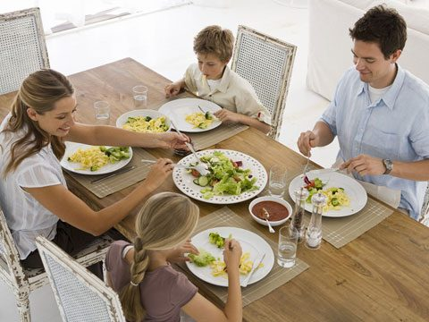 Eat meals together as a family.