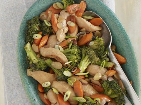 Almond Chicken and Broccoli Stir-Fry