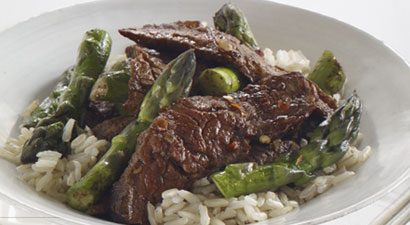 beef and asparagus stir-fry