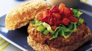Lamb Burgers with Fruity Relish