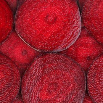 Closeup of ripe tasty sliced ripe beet.