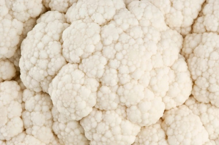 Cauliflower close-up texture