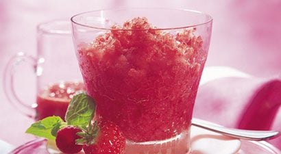 Strawberry and Cranberry Granita