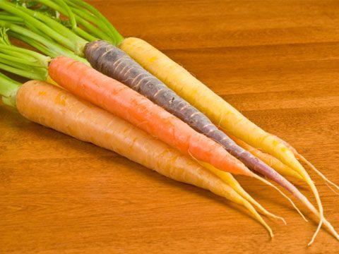 Tiny purple carrots