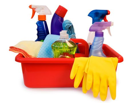 2. Make sure you have all the cleaning products I will need.