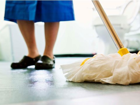7. It makes me crazy when I've just cleaned a floor and my employer walks all over it in dirty shoes.