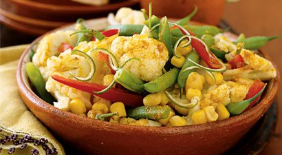 Three-Vegetable Salad With Curry Vinaigrette