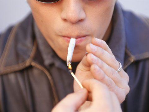 Smoking marijuana frequently