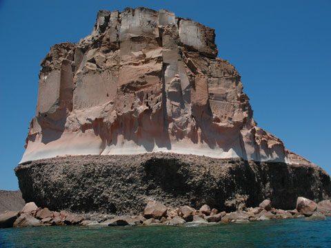 Stratified Island, near La Paz, Baja California Sur, Mexico