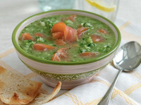 Green Gazpacho With Smoked Salmon