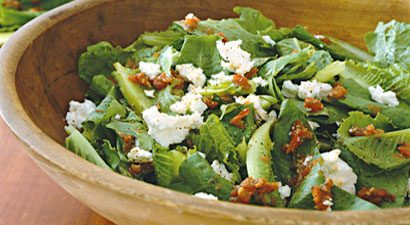 Romaine Lettuce With Chunky Tomato Vinaigrette