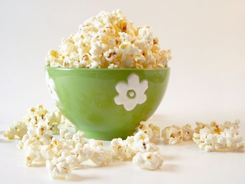11. Try popcorn soup for nausea