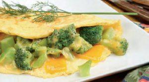 Broccoli Cheddar Omelet