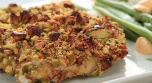 Pistachio-Orange Crusted Chicken