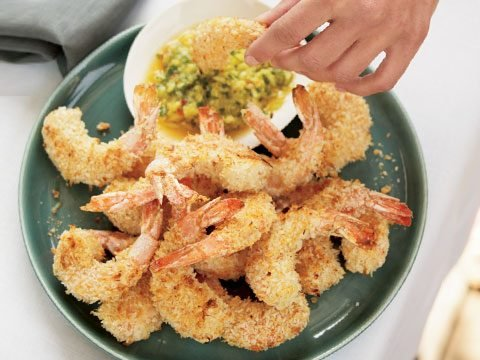 9. Coconut Shrimp with Pineapple Cilantro Dip