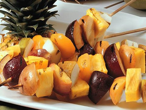 1. Grilled Fruit Kabobs