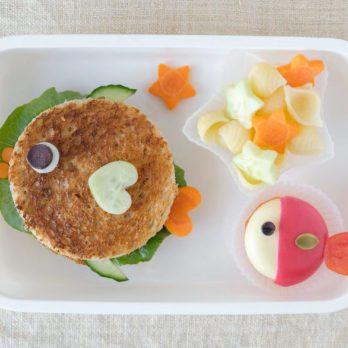 Fish lunch box, fun food art for kids