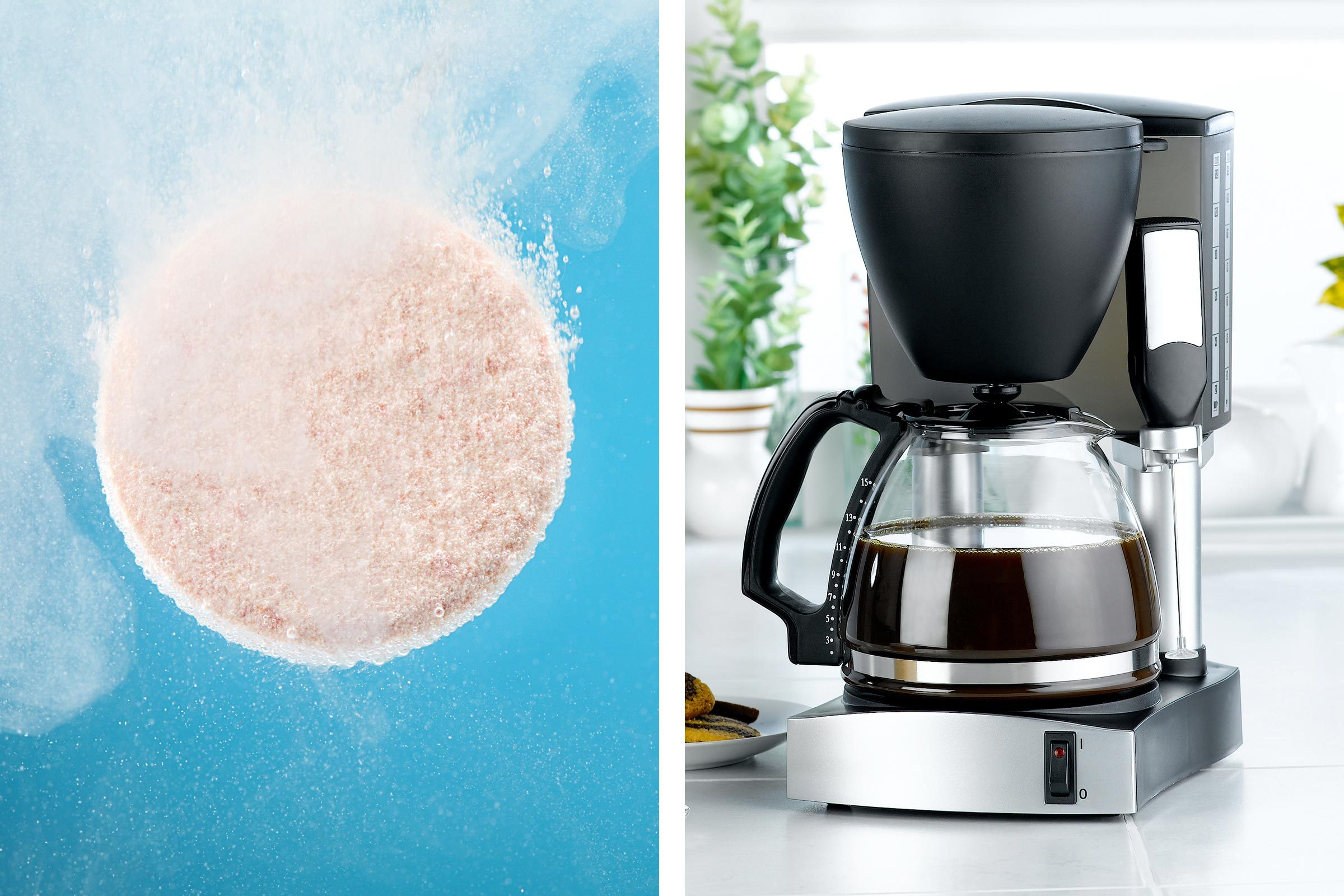 Alka-Seltzer as coffee maker cleaner